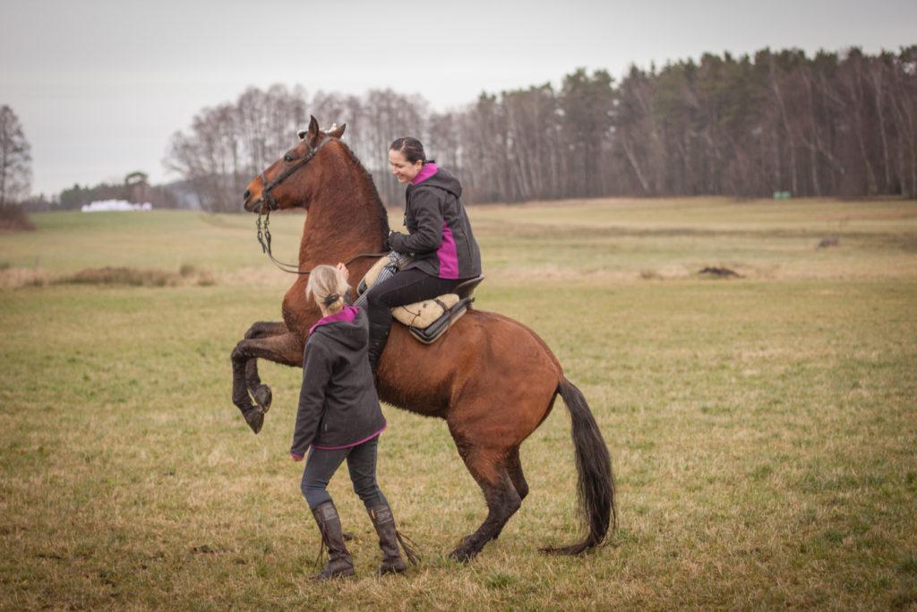 Luise steigt mit Gavilan